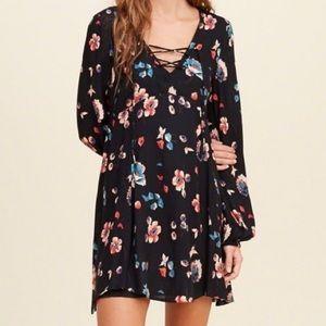 Hollister Long Sleeve Floral Mini Dress